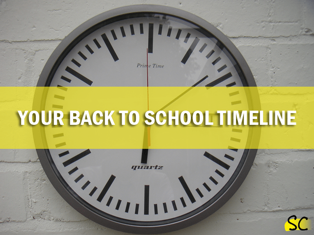 your back to school timeline