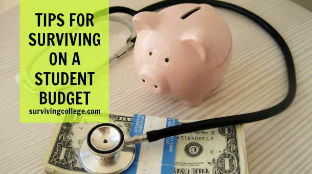 Tips Surviving Student Budget College