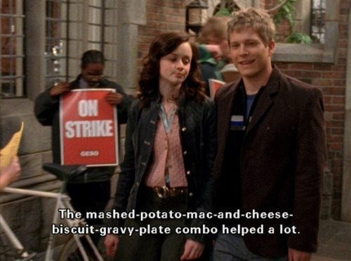 Gilmore Girls Rory Logan Food