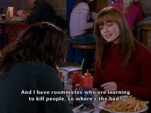 Gilmore Girls Rory Lorelai Roomates