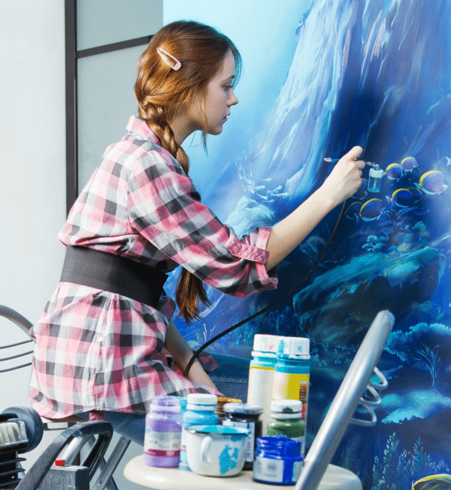 College Art Major - Girl Painting - Artist